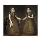 The Infantas Isabel Clara Eugenia and Catalina Micaela  Ca 1575