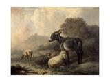 Paisaje Con Animales  Hacia 1844