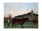 Landscape with Cattle  C 1900