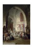 Interior De La Catedral De Toledo  1850