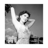 Gina Lollobrigida Posing in Swimsuit