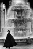 Anna Maria Guarnieri in Front of a Fountain