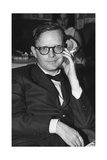 Truman Capote Sitting in the Restaurant of the M-S Vulcania