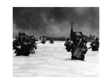 US Soldiers Advancing into the Water