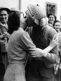 Soldier Kissing a Girl