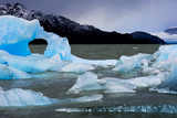 Icebergs Float in Lago Grey in Torres Del Paine National Park