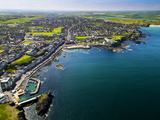 Aerial View over Portstewart in Northern Ireland