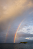 A Double Rainbow over the Pacific Ocean