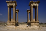 Roman Tetrapylon  Built at an Intersection of Two Roads 2nd Century AD Palmyra  Syria