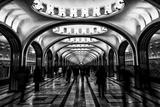 Moscow Metro, Russia Reproduction d'art par Jonathan Irish