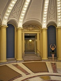 Classic Ballerina Dancing in a Rotunda