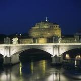 Vittorio Emanuele II Bridge and Castel Sant'Angelo  at Night