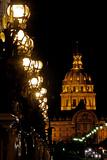 Lights on a Bridge over the Seine River