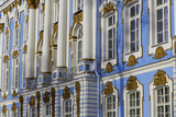 The Facade of the Ornate and Beautiful Catherine Palace  Summer Residence of the Russian Tsars