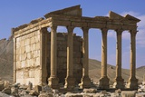 Six-Columned Portico of Roman Temple from 3rd Century AD Palmyra  Syria