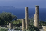 Ruins from Greek Colonists in Sicily  4th-1st Century BC  Island of Vulcano in the Background