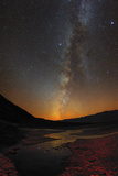 The Milky Way and Zodiacal Light over Badwater Basin in Death Valley
