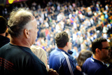 Crowd in Yankee Stadium Singing the Anthem at the Beginning of T