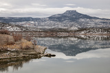 A Snow-Dusted Landscape in Winter at Abiquiu Lake  a Reservoir in Northern New Mexico