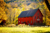 Red Barn and Autumn Foliage  Kent  Connecticut