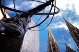 Atlas Staue and St Patrick's Cathedral  Manhattan  New York Cit
