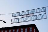Banner on Mulberry Street  Little Italy  New York City
