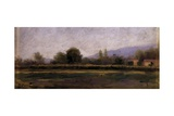 Brozola (Landscape with Fields  Houses  Trees)