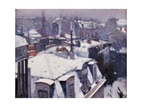 Rooftops under the Snow  Paris