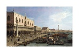 Dock with the Column of San Marco and Doges Palace  Venice  1735
