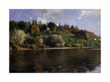 Hill in Turin (Landscape with a River)