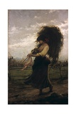 Country Woman (Barefooted Woman Carrying Bundle of Grain or Hay)
