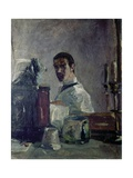 Self Portrait of Lautrec in Front of a Mirror