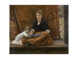 Balcony in Venice (Young Woman and Baby)