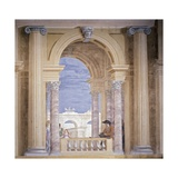 Villa Revedin Decoration  with Fictitious Loggia and Masked Characters