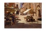 Market in Chivasso  Italy