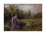 The Scolding (Woman Crying in Meadow)