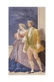 Villa Revedin Ballroom Decoration  Frame with Couple of Lovers