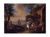 Landscape with Resting Soldiers
