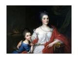 Bianca Ferrari Visconti with Her Daughter Elena
