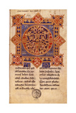Capital Illuminated Q  11th C Manuscript from Benevento Montecassino