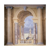 Villa Revedin Ballroom Decoration  with Fictitious Loggia with Lovers