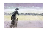 Study for 'Races' (Woman Standing on a Chair to See the Racetrack)