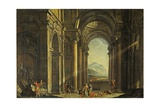 Mythological Scene Inside Perspective of a Baroque Palace
