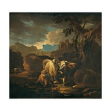 Cattle and Goats in a Landscape