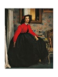 Portrait of Ms L L (Young Woman Wearing and Red  Bolero Jacket)