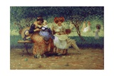 Our Children (Women and Babies on Park Bench)