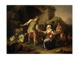 Country Scene with Shepherds and Goats