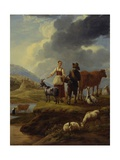 Italianate Landscape with Shepherds and Flock