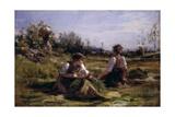Haymaking (Women Gathering Hay)