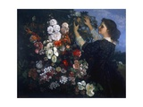 The Pergola (Woman Arranges Flowers)